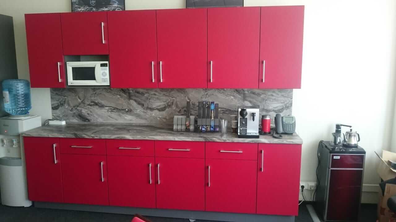 Кухня на заказ для офиса Nissan Motors